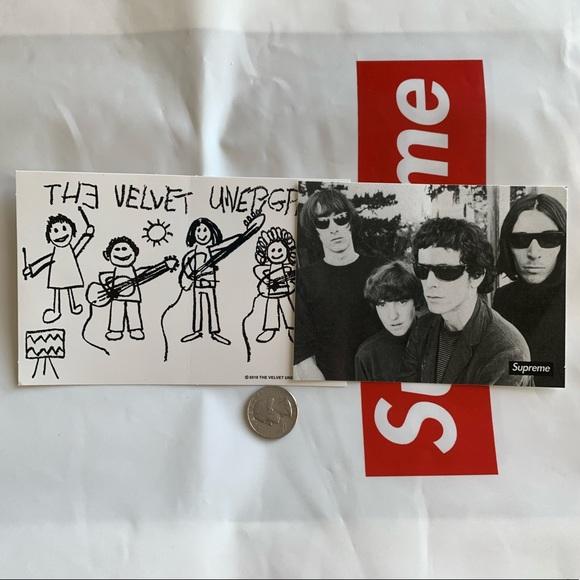 SUPREME The Velvet Underground Sticker Black box logo camp cap F//W 19